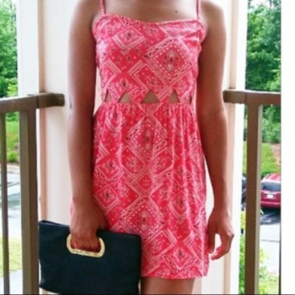 92b304fc5d3c H M Dresses   Skirts - H M Red Cutout Bandana Dress